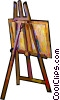 Easel and canvass Vector Clipart picture