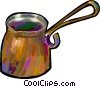 Vector Clip Art image  of a water cups