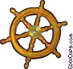 helm of a ship Vector Clip Art picture
