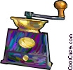 Vector Clip Art graphic  of a coffee grinder