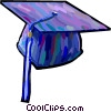 graduation hat Vector Clipart picture