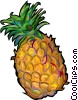 pineapples Vector Clipart graphic
