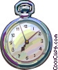 Vector Clipart graphic  of a pocket watch