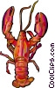 Cooked lobster Vector Clipart graphic