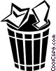 garbage/trash cans Vector Clipart picture