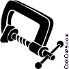 Vector Clip Art graphic  of a clamps