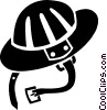 hard hat Vector Clipart graphic