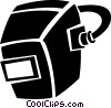 Vector Clip Art graphic  of a welding masks