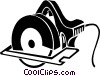 Vector Clip Art graphic  of a skill saw