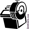 Vector Clipart graphic  of a tire balancing machine