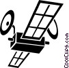 Vector Clipart illustration  of a satellites