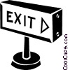 Vector Clipart illustration  of a exit sign