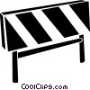 Vector Clipart image  of a construction barriers