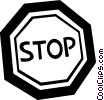 Vector Clip Art image  of a traffic signs