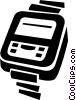 wrist watch Vector Clipart illustration
