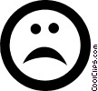 Vector Clip Art image  of a sad face