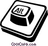 computer keys Vector Clipart illustration