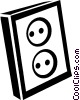 Vector Clipart image  of a wall sockets
