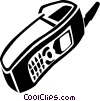 cellular phone Vector Clipart graphic