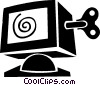 Vector Clip Art picture  of a computer monitor