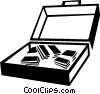 Vector Clipart graphic  of a briefcase with case