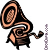 Vector Clipart illustration  of a phonograph