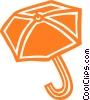 Vector Clipart picture  of a umbrella