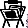 newspaper racks Vector Clip Art picture