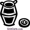 Egyptian basket Vector Clip Art graphic