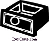 Vector Clip Art image  of a drawer
