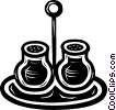 Vector Clipart picture  of a salt and pepper
