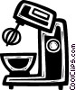Vector Clip Art image  of a electric mixer