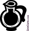Vector Clipart image  of a water pitcher