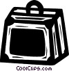 Vector Clipart image  of a suitcase