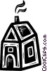 Vector Clipart image  of a rural home