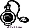 Vector Clipart graphic  of a perfume bottle