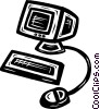 Vector Clip Art graphic  of a personal computers