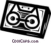 Vector Clip Art picture  of a cassette tape