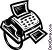 Vector Clip Art graphic  of a fax machine