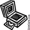 Vector Clip Art picture  of a notebook/laptop computers