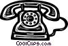 Vector Clip Art graphic  of a home telephones