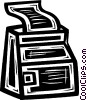 computer printer Vector Clipart graphic