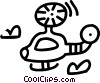 helicopter Vector Clipart graphic