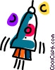 Vector Clip Art graphic  of a rocket ship