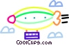 Vector Clip Art picture  of a blimp