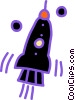 Vector Clipart picture  of a rocket ship