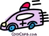Vector Clip Art graphic  of an ambulance