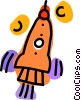 rocket ship Vector Clipart graphic