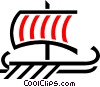 Vector Clipart image  of a Viking ship