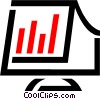 Vector Clip Art image  of a computer monitor